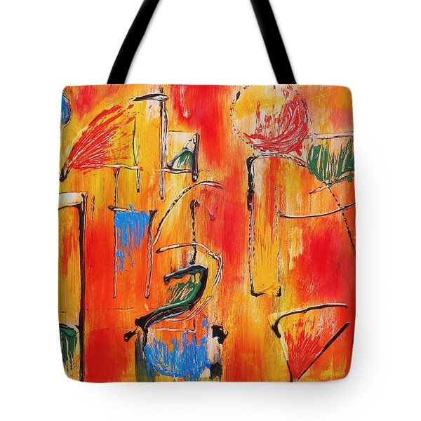 Dancing In The Heat Tote Bag
