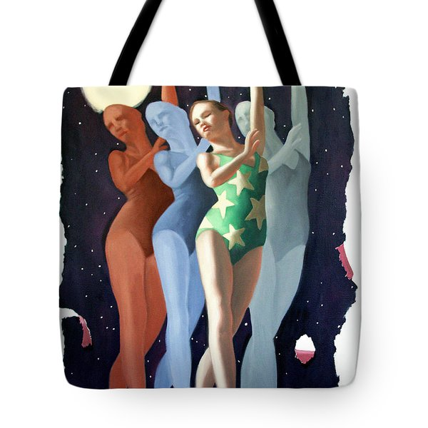 Tote Bag featuring the painting Dancing In The Moonlight by Anthony Falbo