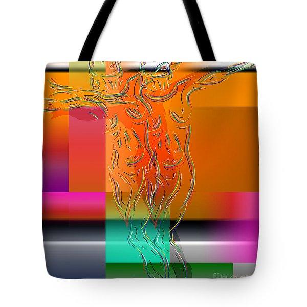 Dancing In The Rain Tote Bag by Mark Ashkenazi