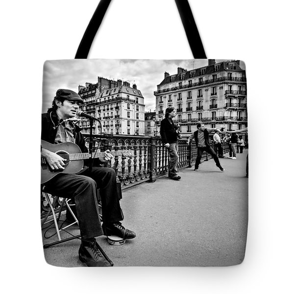 Dancing In The Streets Of Paris / Paris Tote Bag