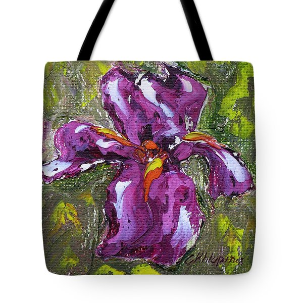Dancing Iris Tote Bag