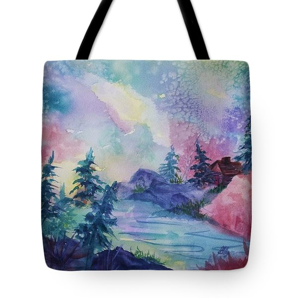Dancing Lights II Tote Bag by Ellen Levinson