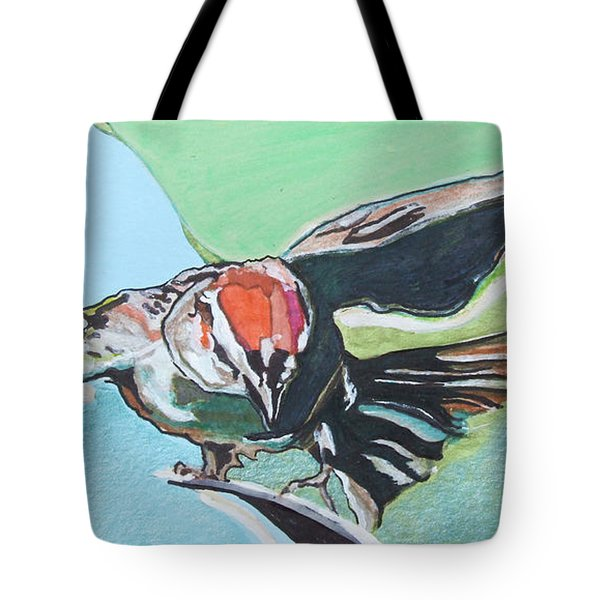 Dancing Sparrow Tote Bag by Jamie Downs