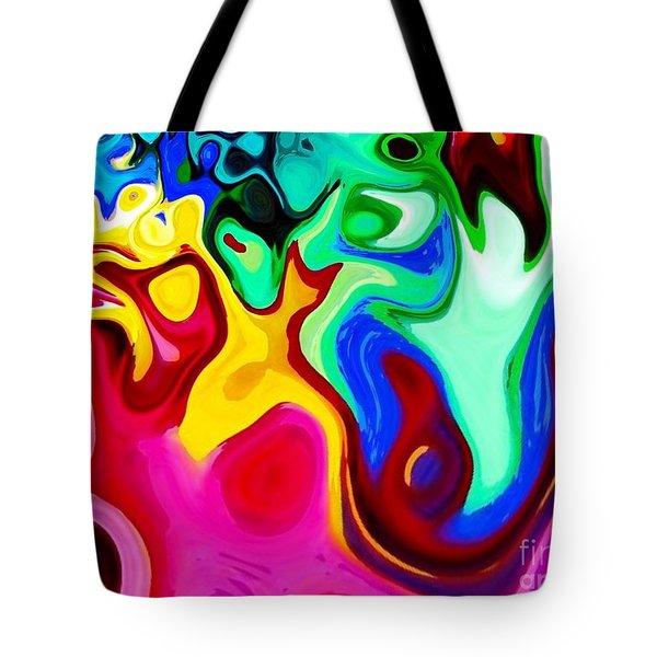 Dancing Spirits  Tote Bag by Annie Zeno