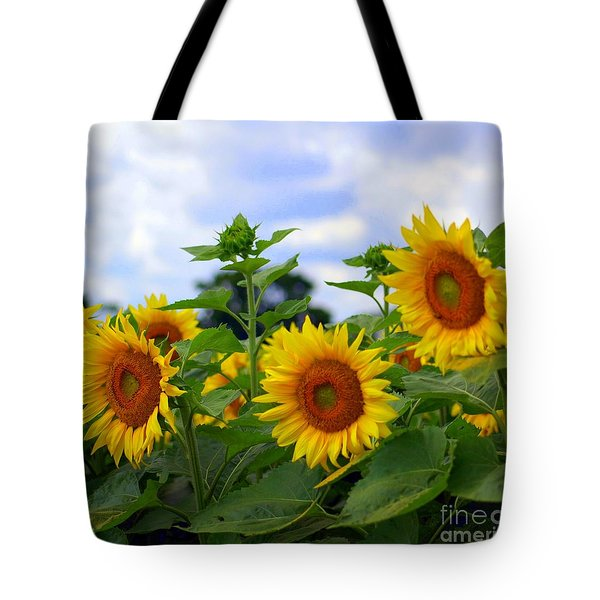 Dancing Sunflowers Tote Bag by Kathleen Struckle