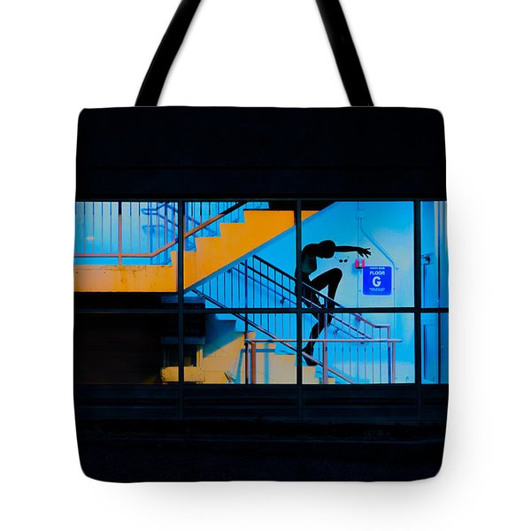 Dancing To Floor G Night People Tote Bag by Bob Orsillo