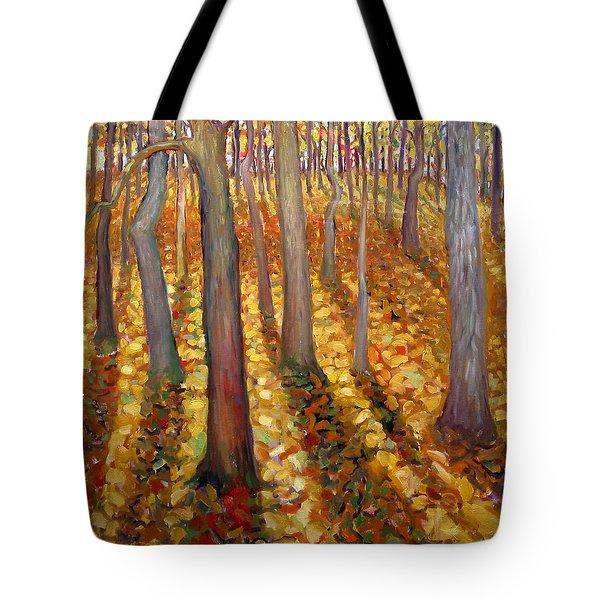 Dancing Trees Tote Bag