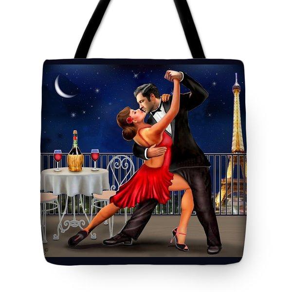 Dancing Under The Stars Tote Bag by Glenn Holbrook