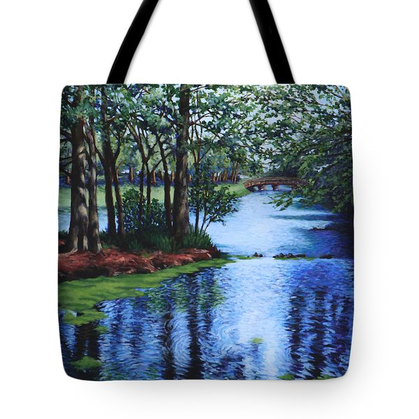Tote Bag featuring the painting Dancing Waters by Penny Birch-Williams