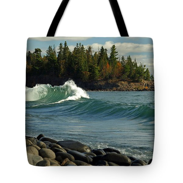 Tote Bag featuring the photograph Dancing Waves by James Peterson
