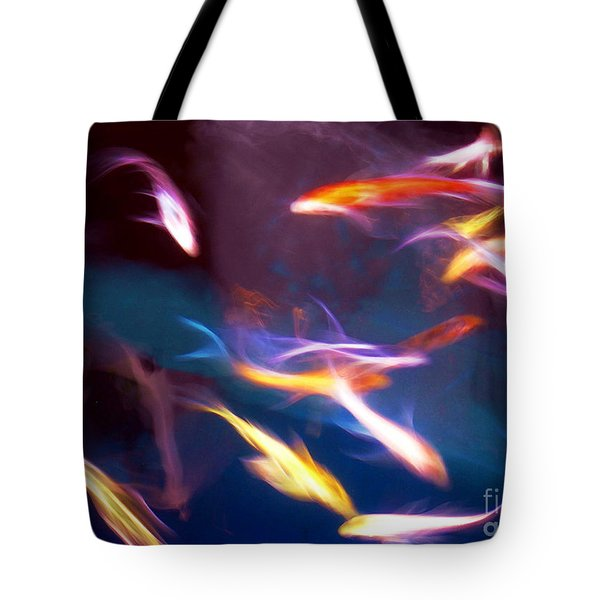 Dancing With Koi Tote Bag