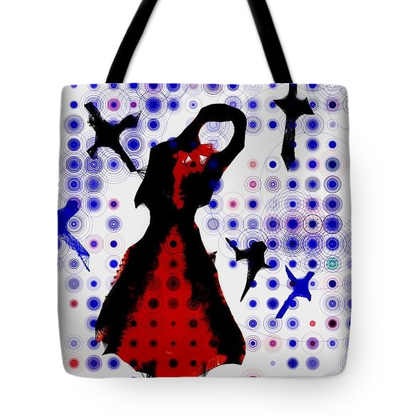Tote Bag featuring the photograph Dancing With The Birds by Jessica Shelton