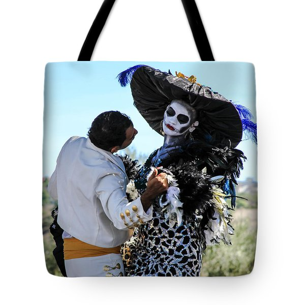 Dancing With The Death Tote Bag by Menachem Ganon