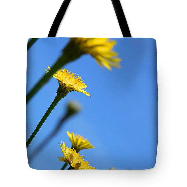 Dancing With The Flowers Tote Bag by Andrea Anderegg