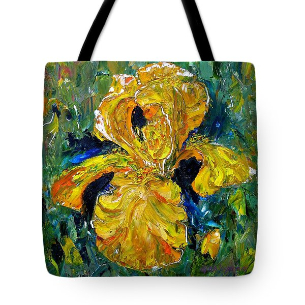 Dancing Yellow Iris Tote Bag