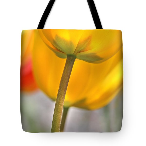 Dancing Yellow Tulip Flowers Tote Bag by Jennie Marie Schell