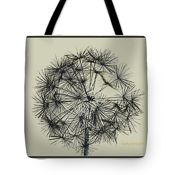 Tote Bag featuring the photograph Dandelion 6 by Kathy Barney