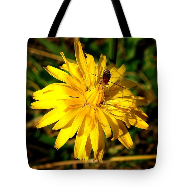 Dandelion And Bug Tote Bag