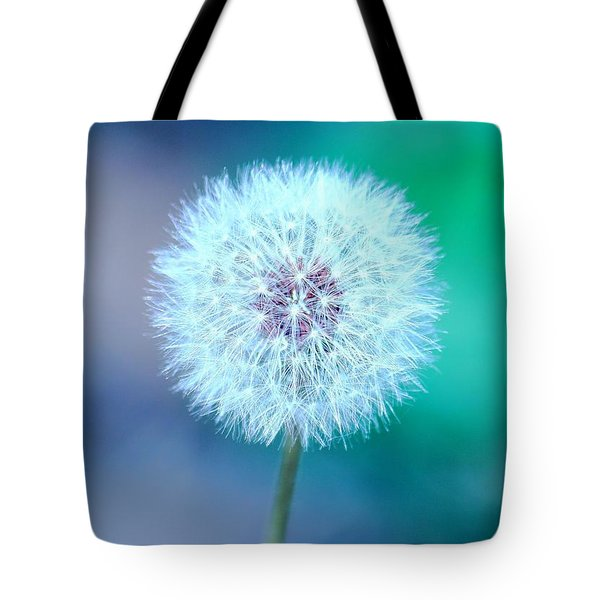 Dandelion Blue Tote Bag by Elizabeth Budd