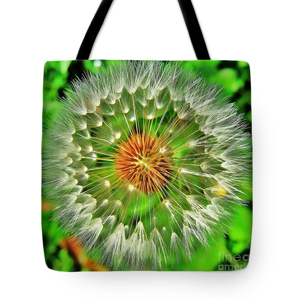 Dandelion Circle Tote Bag