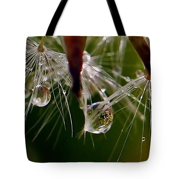 Dandelion Droplets Tote Bag