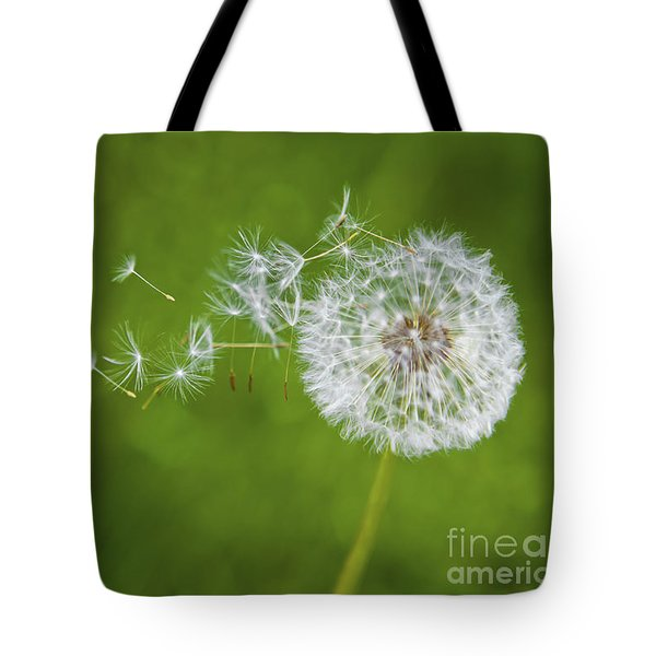Dandelion In The Wind Tote Bag