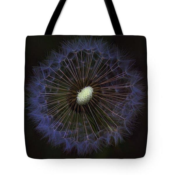 Dandelion Nebula Tote Bag by Kathy Clark