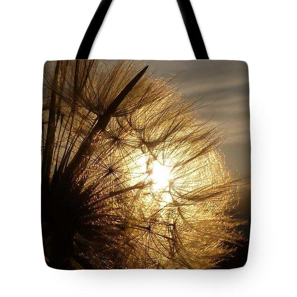 Dandelion Sunset Tote Bag