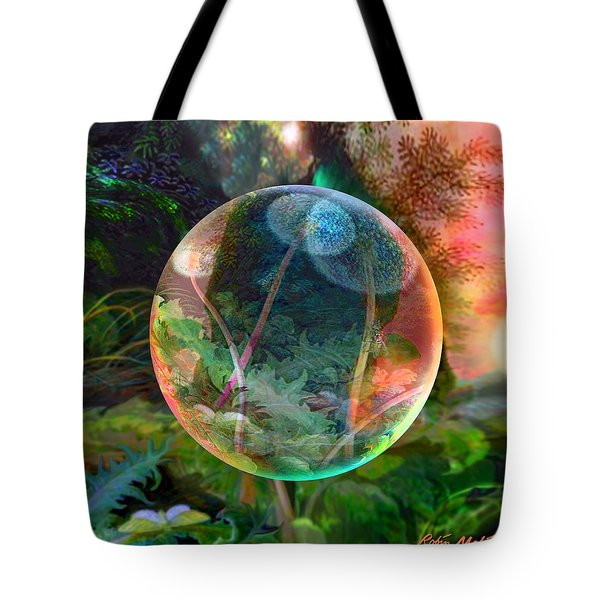 Tote Bag featuring the painting Dandelion Wine by Robin Moline