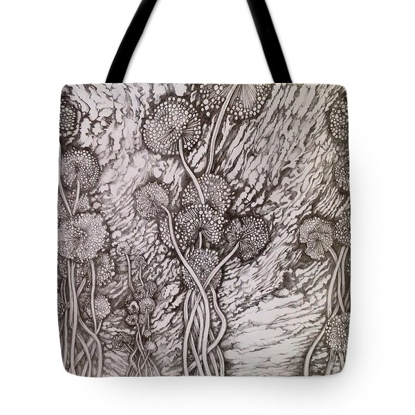 Dandelions Tote Bag by Iya Carson