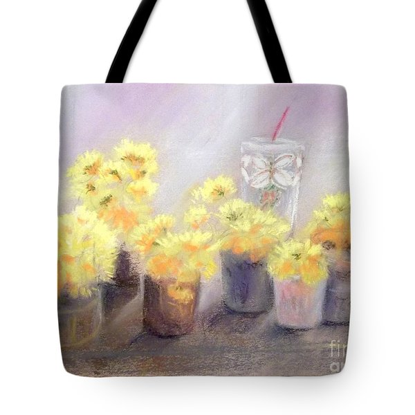 Dandelions Tote Bag by Yoshiko Mishina
