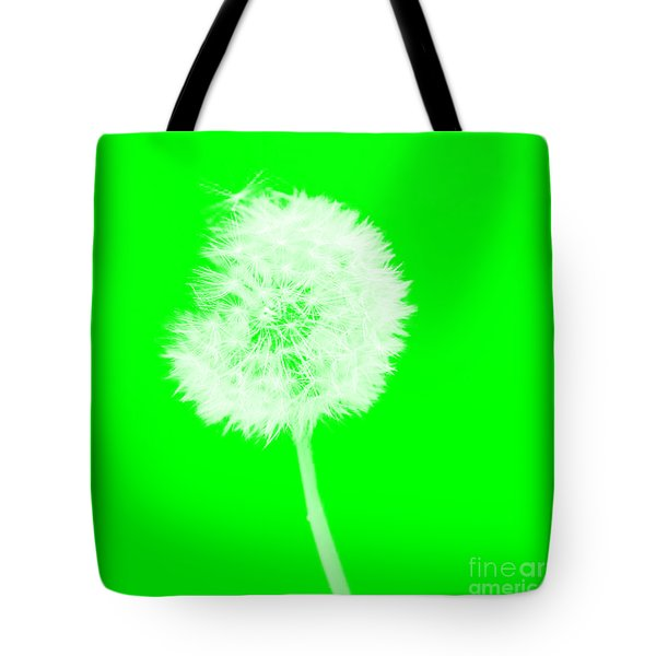 Tote Bag featuring the digital art Dandylion Green by Clayton Bruster