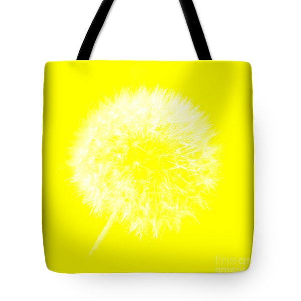 Tote Bag featuring the digital art Dandylion Yellow by Clayton Bruster