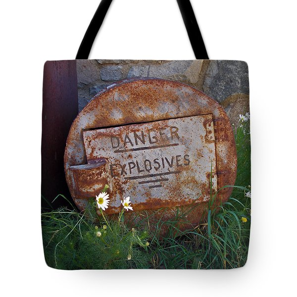 Danger Explosives Tote Bag