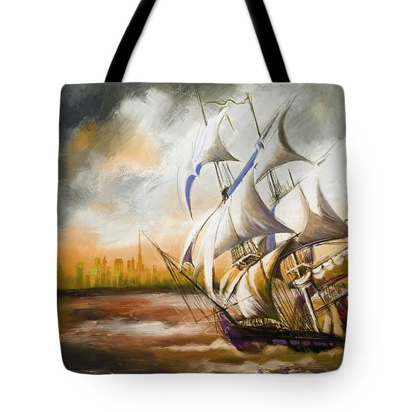 Dangerous Tides Tote Bag by Corporate Art Task Force