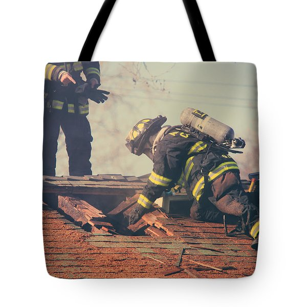 Dangerous Work Tote Bag by Laurie Search