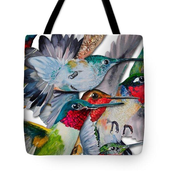 Da133 Hummingbirds By Daniel Adams Tote Bag