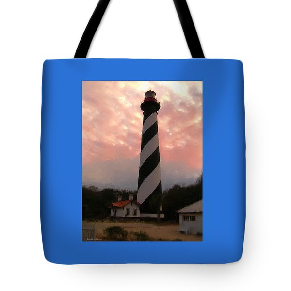 Da127 St. Augustine Lighthouse By Daniel Adams Tote Bag
