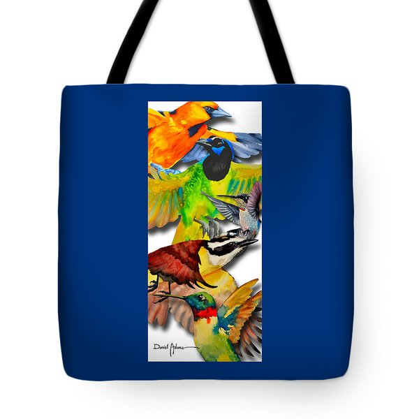 Da131 Multi-birds By Daniel Adams Tote Bag