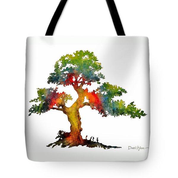 Da140 Rainbow Tree Daniel Adams Tote Bag