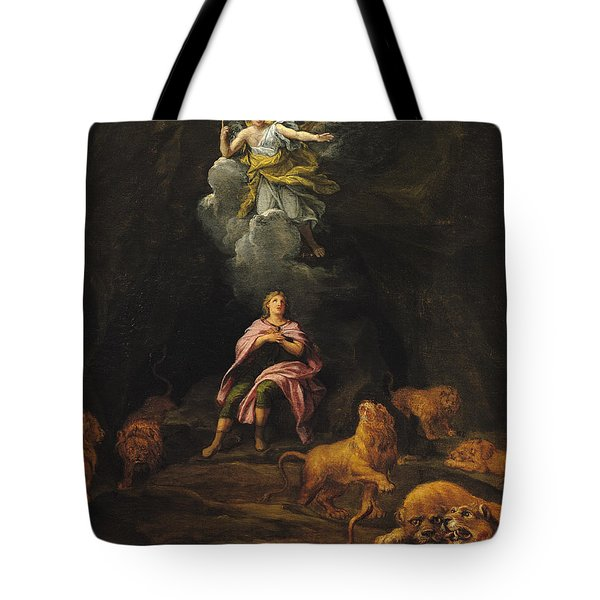 Daniel In The Den Of Lions Oil On Canvas Tote Bag