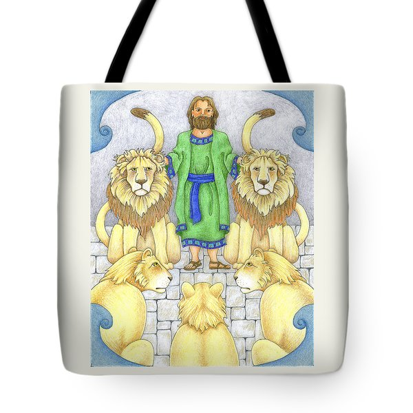 Daniel In The Lions' Den Tote Bag by Alison Stein