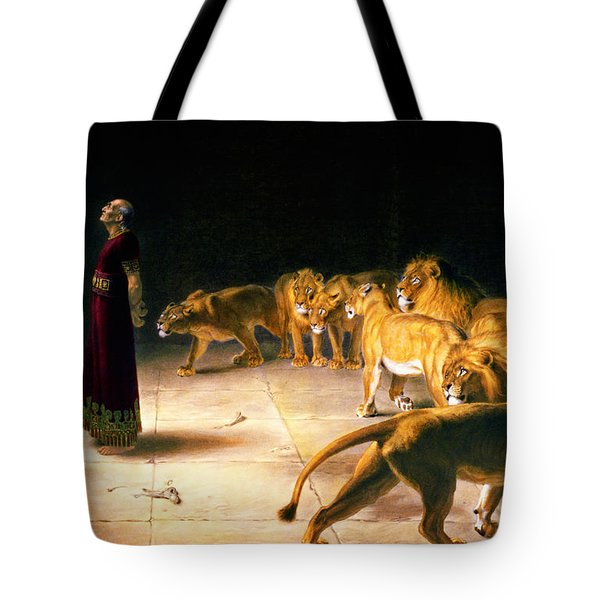 Tote Bag featuring the painting Daniel's Answer To The King by Celestial Images