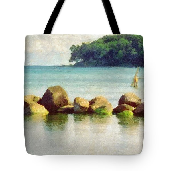 Danish Coast On The Rocks Tote Bag by Jeffrey Kolker