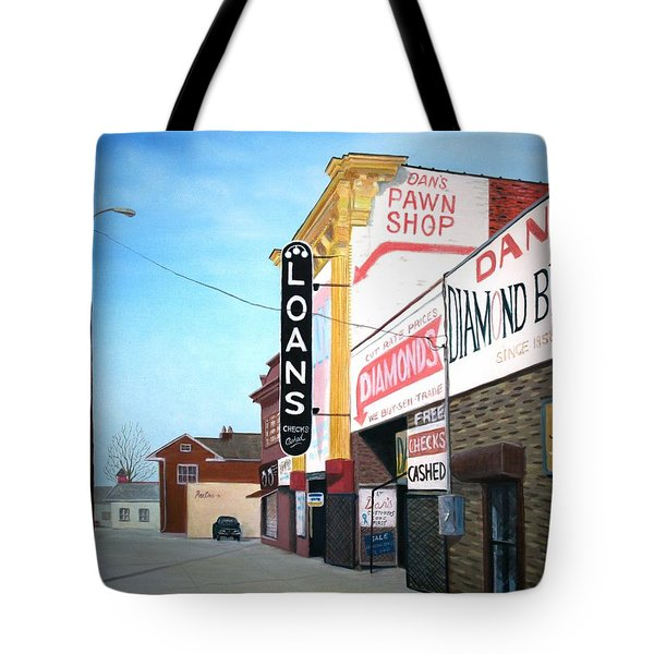 Tote Bag featuring the painting Dan's by Stacy C Bottoms