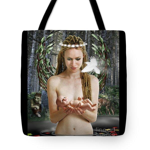 Danu Mother Goddess Tote Bag by Keith Dillon