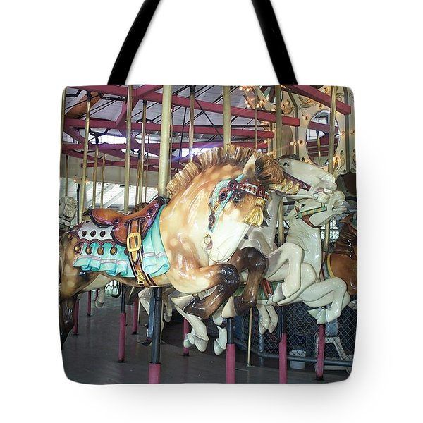 Tote Bag featuring the photograph Dapled Pony by Barbara McDevitt