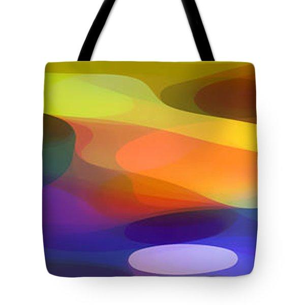 Dappled Light Panoramic 1 Tote Bag by Amy Vangsgard