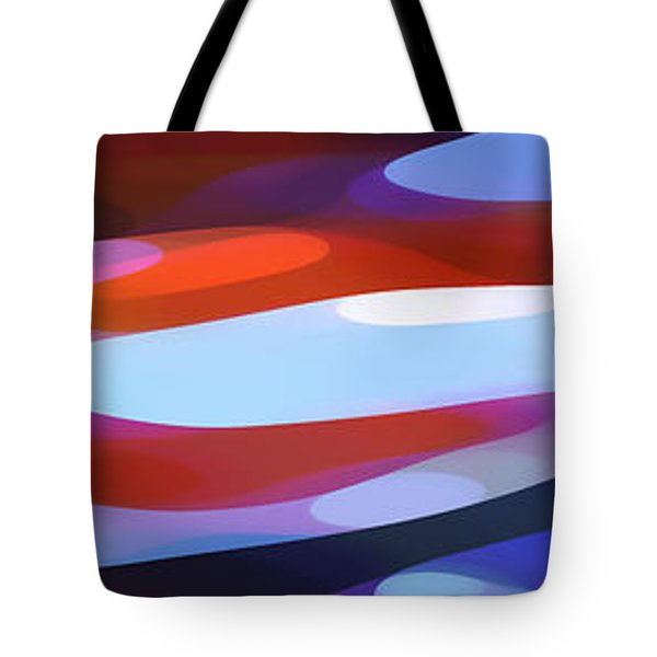 Dappled Light Panoramic 3 Tote Bag by Amy Vangsgard