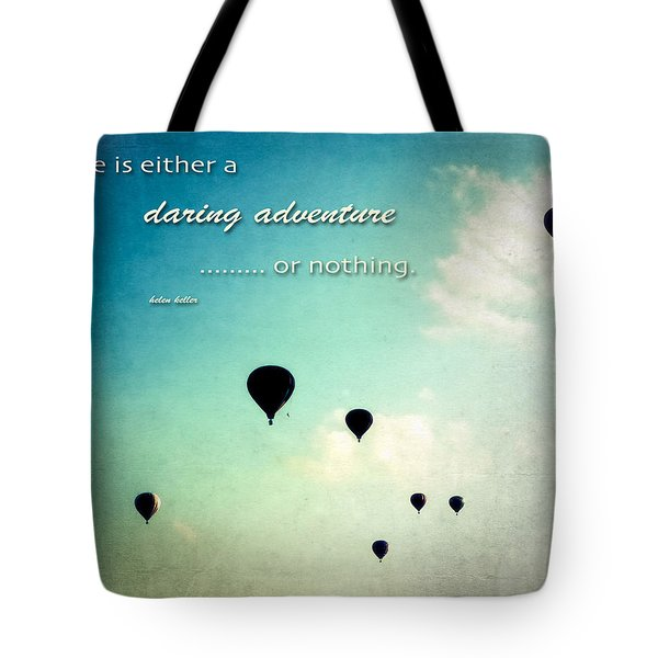 Daring Adventure Hot Air Balloons Tote Bag by Eleanor Abramson